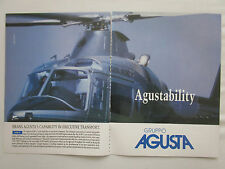 12/1990 PUB GRUPPO AGUSTA HELICOPTER HUBSCHRAUBER HELICOPTERE A109 C ORIGINAL AD