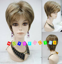 2018 sexy ladies Short Blonde Brown Mixed Straight Natural Hair wigs