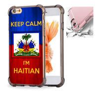 For iPhone X 6 6s 7 8 Case Cover Keep Calm, I'm Haitian Haiti Flag #7702