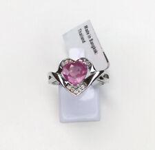 Pink Sapphire & Topaz Gemstone Ring, Size R/S, Gems Tv/ Gemporia