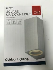 Forum ZN-31759-POLAU Square Outdoor Up/Down Light Stainless Steel
