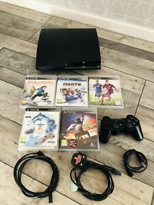 PlayStation 3 Slim 120GB Black Console,Controller, HDMI,Power Lead With 5 Games