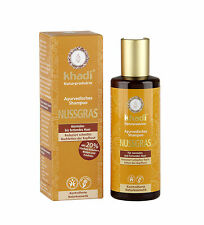 KHADI AYURVEDIC SHAMPOO 210ml -NUTGRASS- NORMAL TO OILY HAIR -VEGAN-CRUELTY FREE