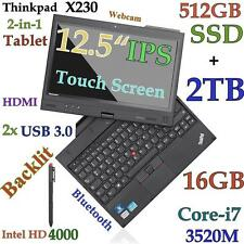 ThinkPad X230 TABLET i7-3520M (512GB-SSD + 2TB 16GB) 12.5 IPS MultiTouch Backlit