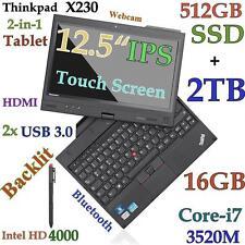 ThinkPad X230 TABLET i7-3520M (512GB-SSD + 2TB 16GB) 12.5 IPS MultiTouch Backlit