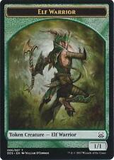 4X 1/1 Green Elf Warrior Token (006/007) NM Duel Decks: Mind vs. Might MTG Magic
