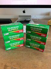 6 x FujiFilm Superia 100 Color Reversal 120 Roll Film - Expired 6/2010