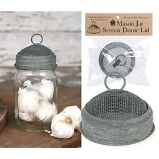 Mason Jar Screen Dome Lid in Barn Roof by CTW Home Collections
