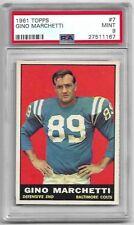 1961 Topps #7 Gino Marchetti (HOF) PSA 9 MINT, Colts, Rare, POP 16,  None Higher