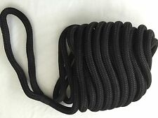 "5/8"" X 40' Black Double Braided Nylon Dock Line"