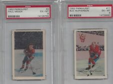 Parkhurst 1952 Hockey, Canadiens PSA 6 Ex-Mt MacPherson #11 nicely centered