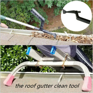 The Roof Gutter Cleaning Tool Leaf Dirt Scoop Shovel Pipe Garden Removal Scraper