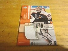 Brian Boucher 2001-02 UD Mask Collection Goalie Jerseys #MMBB Relic Card Flyers