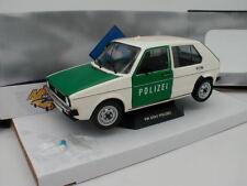 """Solido s1800205-VW Golf 1 anno di costruzione 1974 in bianco-verde """"POLIZIA"""" 1:18 NUOVO!!!"""