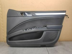 SKODA SUPERB MK2 3T DOOR CARD PANEL OSF DRIVER FRONT LEATHER AND SILVER TRIM