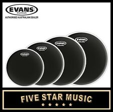 "EVANS ONYX 4 PCE DRUM SKIN SET INCLUDING 10"" 12"" 14"" 16"" HEADS"