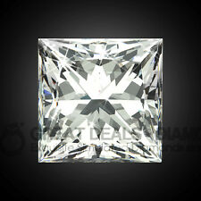 Stunning PRINCESS cut shape Russian Diamond Simulant solitaire fancy COLOUR