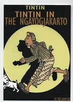 Carte Postale Tintin in the Ngayogjakarto.  Pastiche IMAGES DE TINTIN 2017