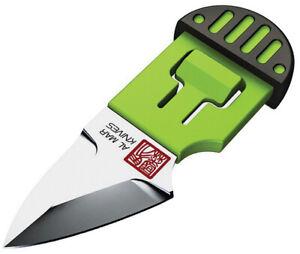 Al Mar Stinger Green D2 Steel Fixed Blade Keyring Knife w/ Sheath 1001BKG