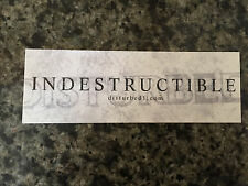 Disturbed sticker promo for Indestructible cd 2008