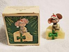 New listing Hallmark Mouse On Cheese Keepsake Christmas Tree Ornament 1983