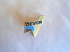 Cool Vintage Devon Alta Alberta Canada Canadian City Enamel Souvenir Pin Pinback