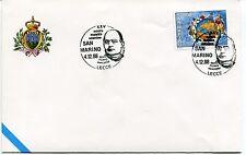 1998-12-04 San Marino Lecce 25° mostra filatelica salentina ANNULLO SPECIALE