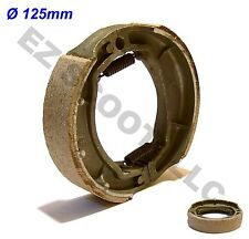 REAR DRUM BRAKE SHOES PAD 125mm GY6 4STROKE CHINESE SCOOTER ROKETA JONWAY PEACE
