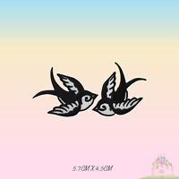 Swallow Bird Pair Embroidered Iron On Sew On Patch Badge For Clothes etc