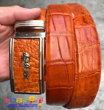 Men's Belt - Genuine Crocodile  Skin Leather - Belt Handmade