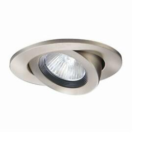 Halo 3 in. Satin Nickel Recessed Ceiling Light Trim with Adjustable Gimbal