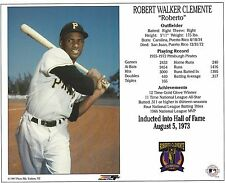 Roberto Clemente Pittsburgh Pirate Hall of Fame 8 x 10 Licensed Supercard Photo