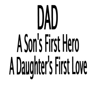 Fathers Day gift Vinyl Pint Glass Sticker Decal