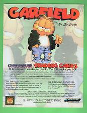 #T326, .1996 GARFIELD CHROMIUM  CARD  PROMOTIONAL SHEET