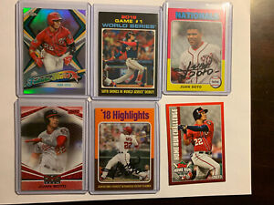 Juan Soto Topps 12 Card Lot Nationals Star: Stadium club, Heritage+more