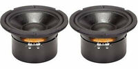 "NEW (2) 6.5"" Woofer Speakers.Replacement.4 ohm.six half inch.6 1/2.Shielded PAIR"