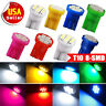 8 Colors - T10 Wedge 8-SMD License Instrument Panel Cluster LED Light bulbs