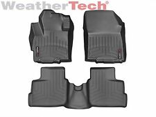 WeatherTech Floor Mats FloorLiner for Mitsubishi Mirage 14-18 1st 2nd Row Black