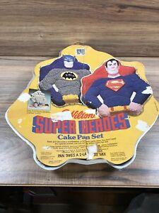 Vintage 1981 Wilton Super Hero Cake Pan Batman / Superman Super Heroes *Retired*