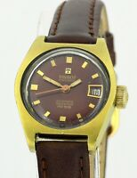 TISSOT PR 516 Seastar Automatic Gold Stainless Steel Vintage Ladies Wrist Watch