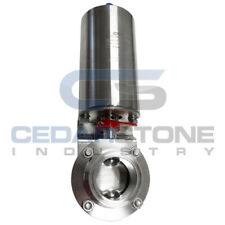 """Sanitary Stainless Steel Pneumatic Butterfly Valve Actuator with Tri-Clamp 1"""""""