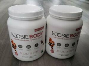 2 BOOBIE BODY SUPERFOOD SHAKE FOR BUSY MOMS COFFEE CARAMEL 21.3 OZ ORGANIC PLANT
