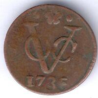 Niederländisch Ost-Indien 1 Duit 1786 VOC (Cu.) KM#131, ss