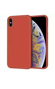 Red iPhone X/XS TPU Gel Silicone Rubber Slim Thin Cover Case + Tempered Glass