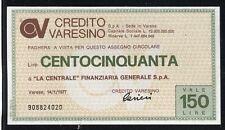 CREDITO VARESINO 14/1/1977 LA CENTRALE FINANZIARIA GEN.SPA /PAPER MONEY FDS/UNC