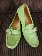 Designer 💜 Prada 💜 Green Leather Moccasin Driving Shoes S: E: 36 UK 3.5 US 6.5
