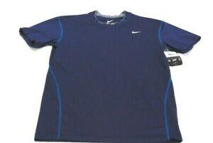 Nike Shirt Blue Dri-Fit Moisture Wicking Short Sleeve Crew Neck Stretch Mens 2XL