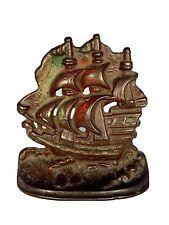 Cast Iron Galleon Ship-Bookend/Doorstop - Vintage - Single - 5�