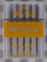 Klasse  SEWING Machine Needles Metallic  80/12 large eye - Less Shredding.