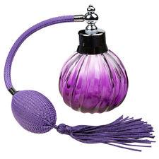 100ml Bouteille de Parfum Vide en Verre Vintage Atomiseur pour Sac Violet